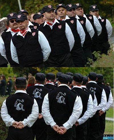 The Hungarian Guard. Dressed to kill.
